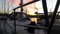 Watching the sunset with Ziggy in Lagos Marina