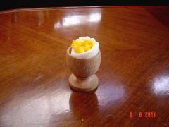 John's version of soft boiled egg!