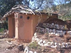 The cute mud-hut