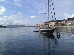 View towards the bridge to Isla Toxa
