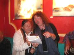 A friend and Becks singing